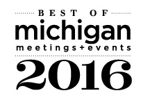 Named 2016 Best Restaurant with Private Dining Space by the readers of Michigan Meetings + Events magazine.
